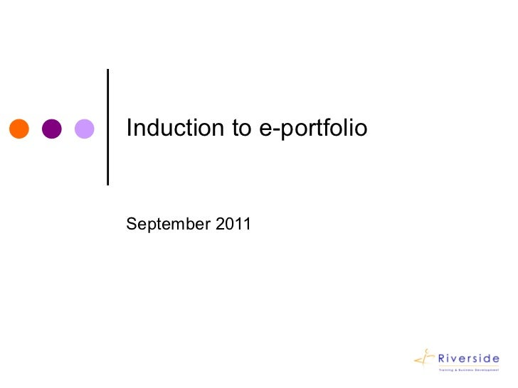 Induction to your e portfolio
