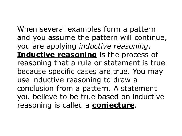 the forms of inductive and deductive reasoning By nathaniel bluedorn a practical introduction to inductive and deductive reasoning through the ages, logicians have discovered two different types of reasoning: inductive reasoning and deductive reasoning.