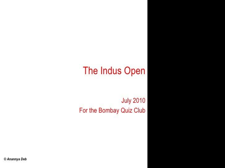 The Indus Open quiz