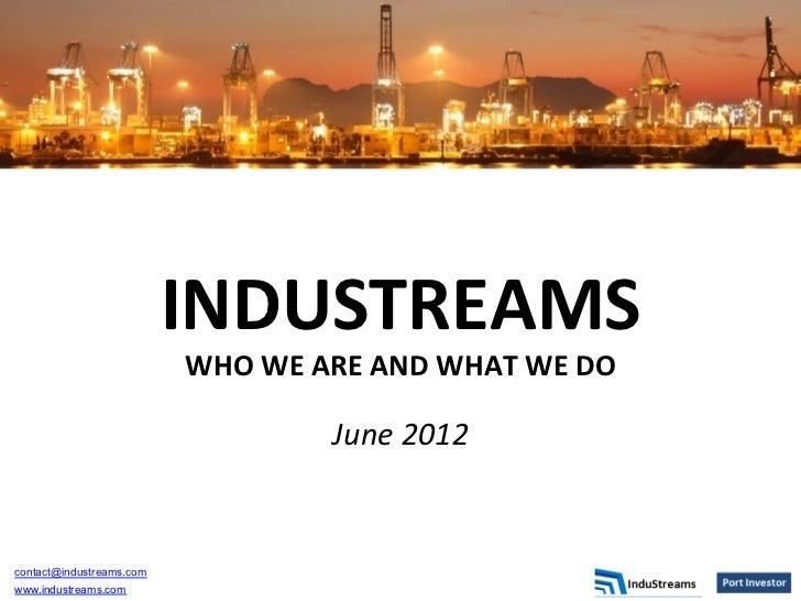 Indu streams introduction