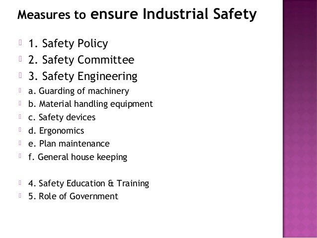 industrial safety essay