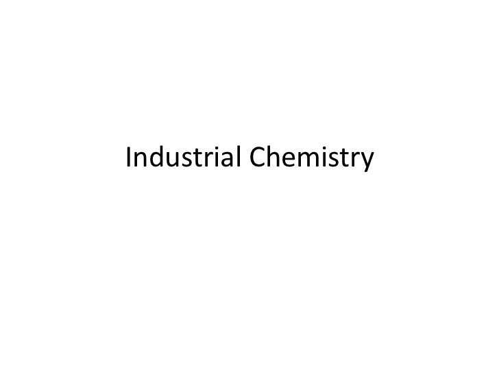 IGCSE Industrial chemistry