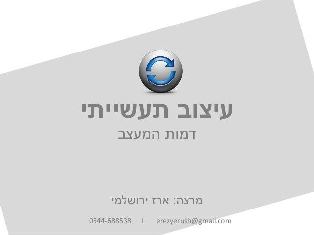 תעשייתי עיצובהמעצב דמותמרצה:ירושלמי ארז0544-688538 I erezyerush@gmail.com