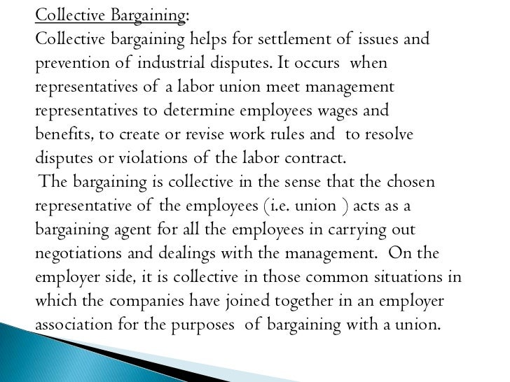 Collective bargaining essay