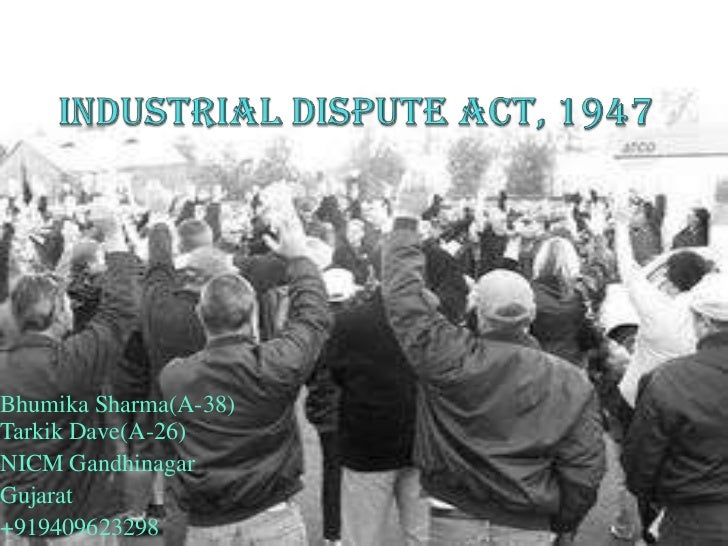 Industrial dsipute act