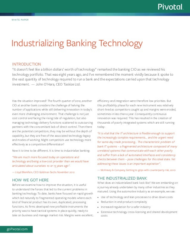Has the situation improved? The fourth quarter of 2012, another CIO at another bank considers the challenge of halving the...