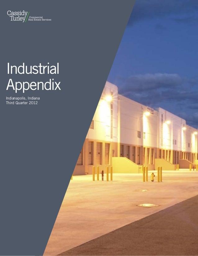 IndustrialAppendixIndianapolis, IndianaThird Quarter 2012                        cassidyturley.com | 2