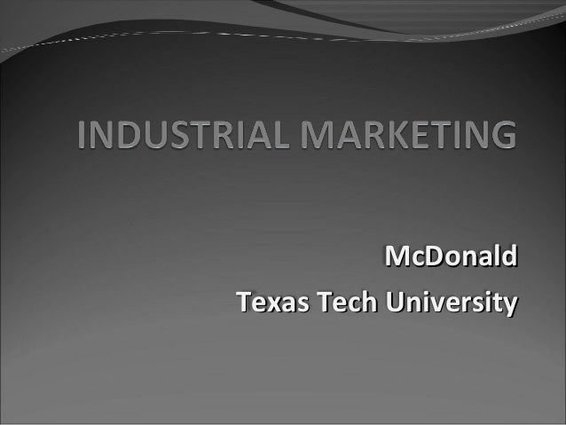 McDonaldTexas Tech University