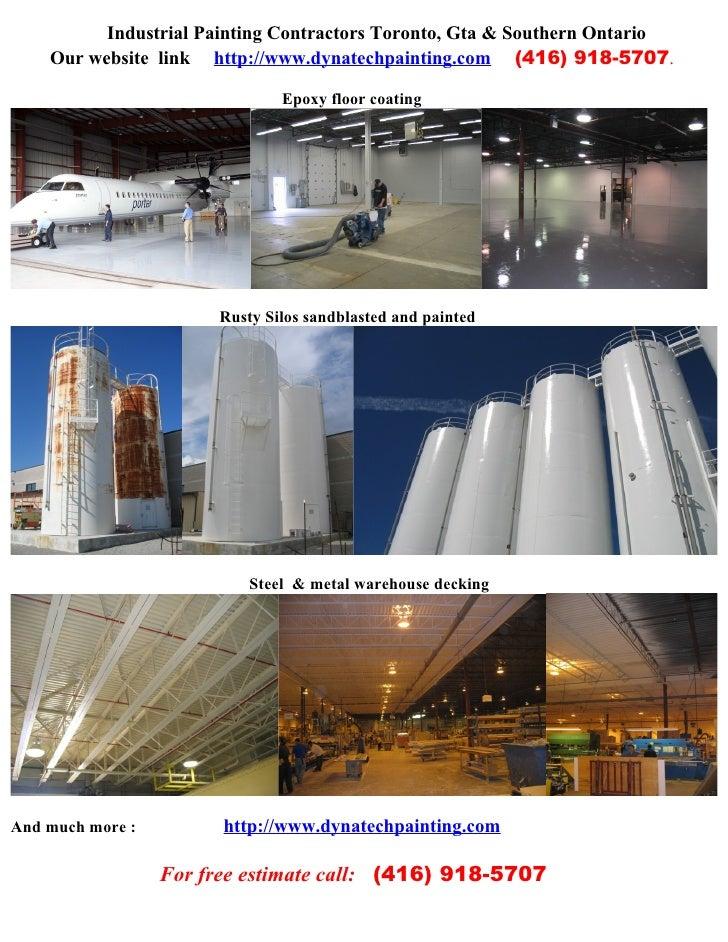 Industrial Painting Contractors Toronto,Gta (416) 918 5707
