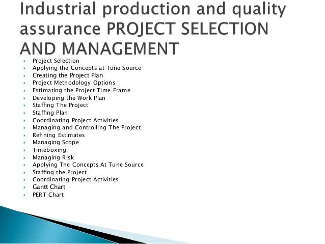 production and quality assurance plan essay 2001 w vol 47 no148 development of assembly work control system working standard procedure sheets, quality assurance reading production plan.