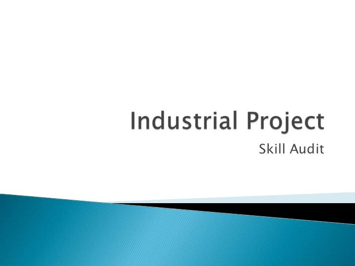 Industrial Project<br />Skill Audit<br />