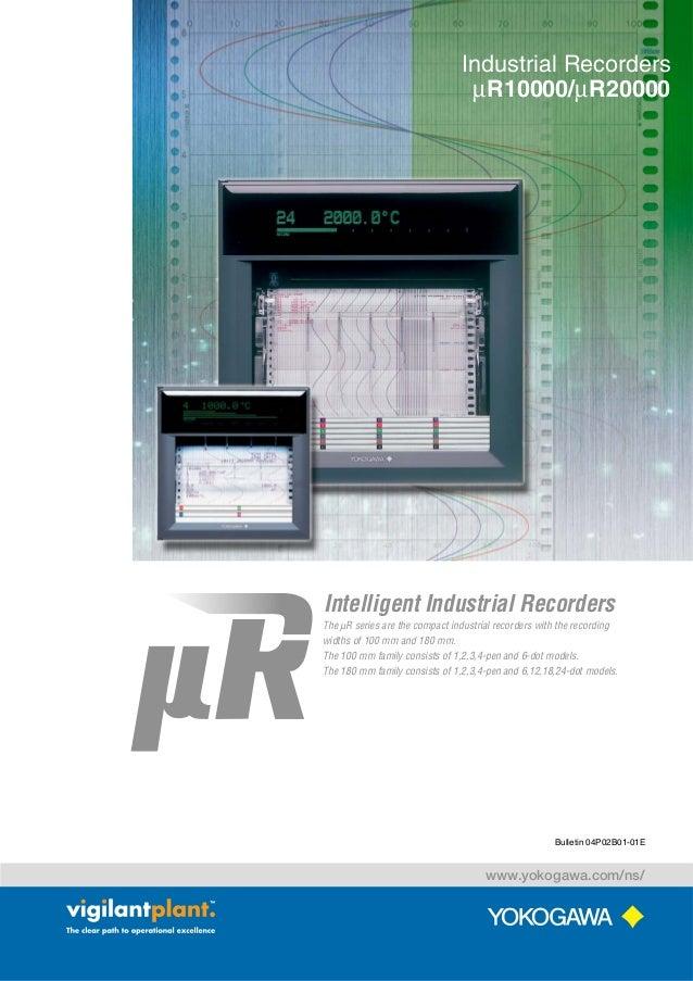 Industrial Recorders µR10000/µR20000  Intelligent Industrial Recorders The µR series are the compact industrial recorders ...