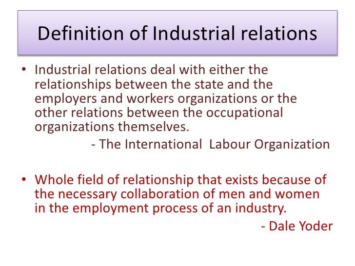 industrial peace in relationship
