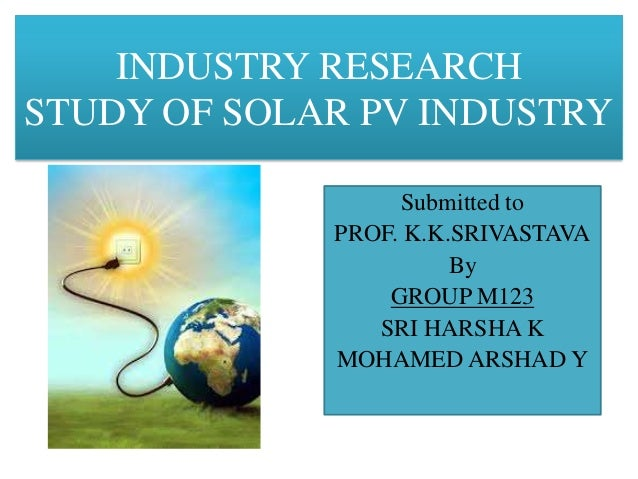 Industrial research solar pv industry