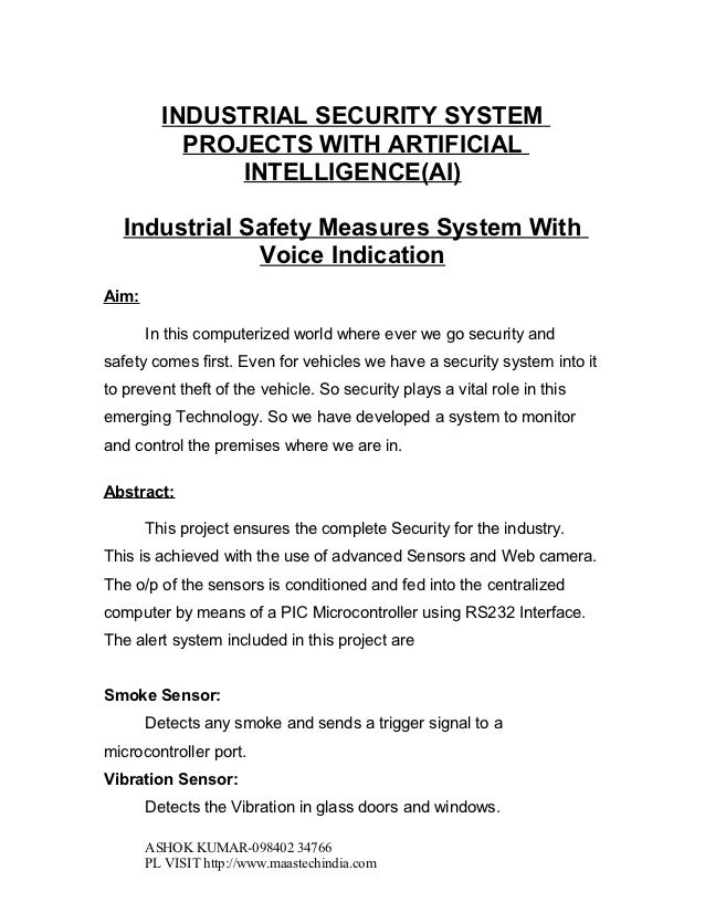 INSTRUMENTATION PROJECTS(E&I):Industrial safety measures system with voice indication