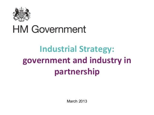 Industrial strategy master presentation