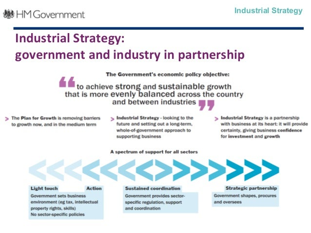 Industrial Strategy:government and industry in partnershipIndustrial Strategy