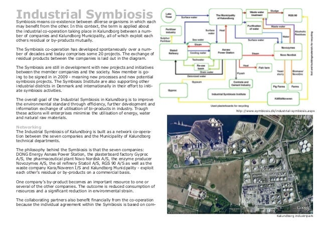 Industrial SymbiosisSymbiosis means co-existence between diverse organisms in which each may benefit from the other. In th...