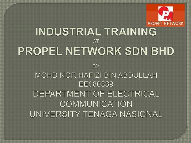 Industrial training presentation