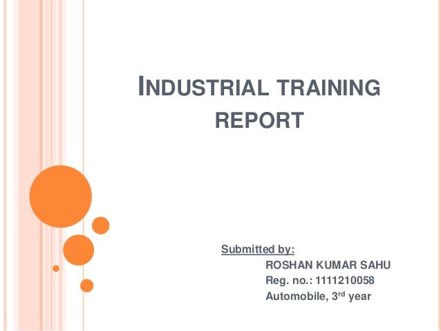 how to write industrial training report