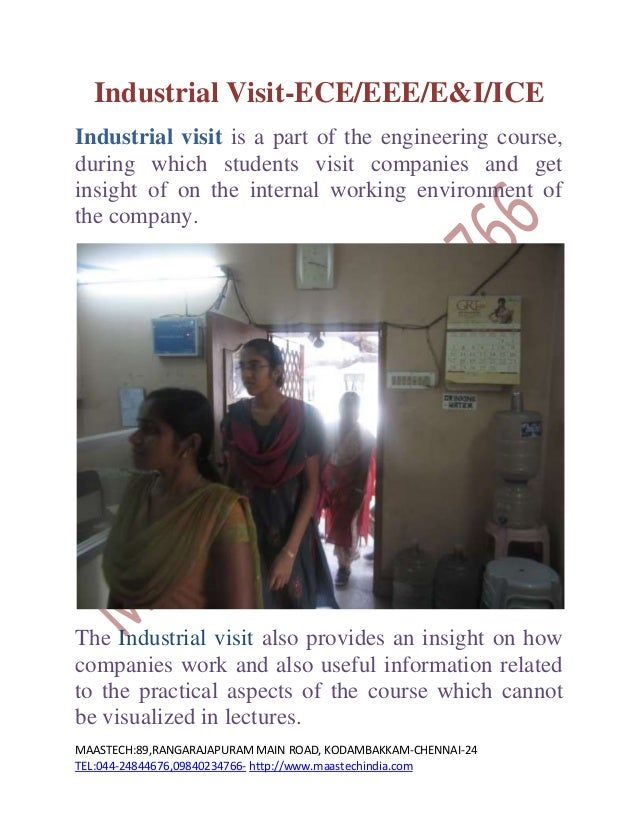 INDUSTRIAL VISIT FOR ENGINEERING STUDENTS-CHENNAI/TAMILNADU