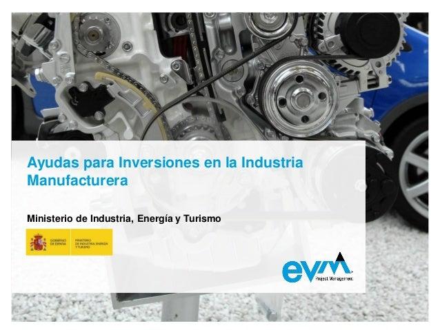 Industria manufacturera 2013