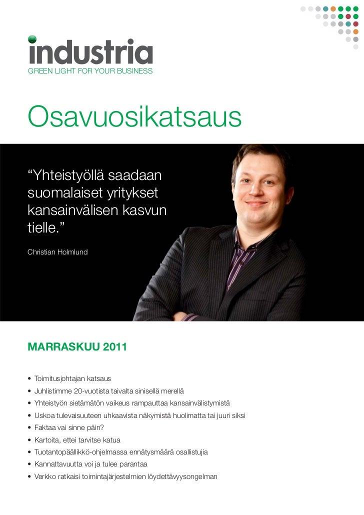 Industria osavuosikatsaus q4/2011