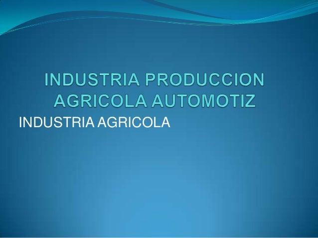 Industria produccion