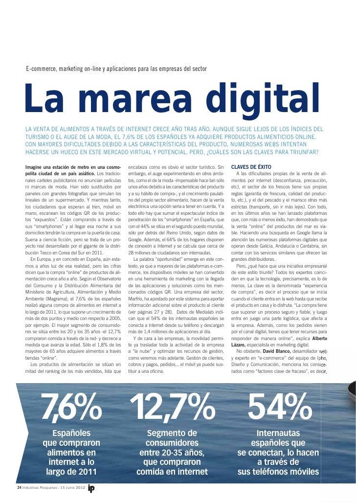 E-commerce, marketing on-line y aplicaciones para las empresas del sector   La marea digital    LA VENTA DE ALIMENTOS A TR...