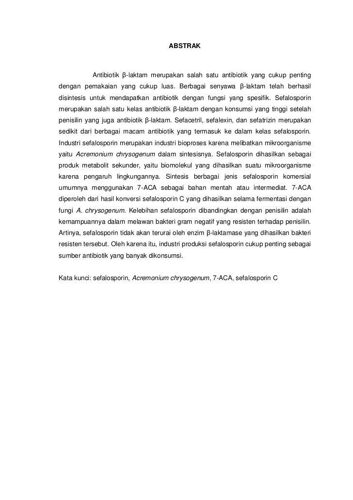 Industri sefalosporin