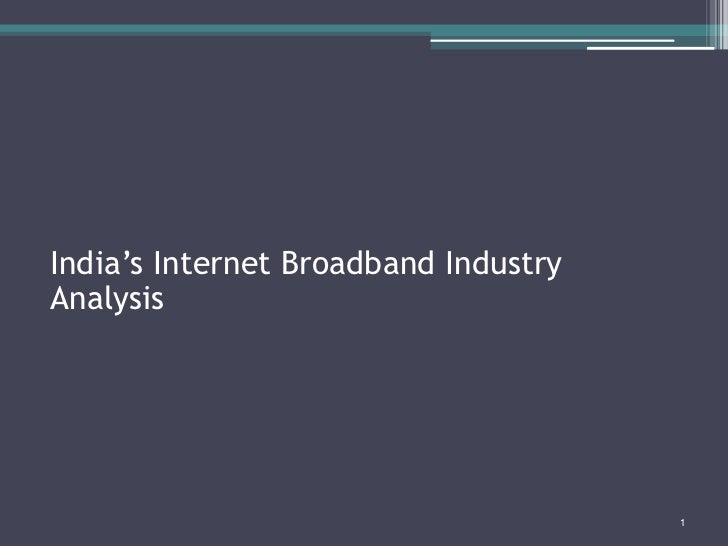 Industry analysis  wireless  broadband