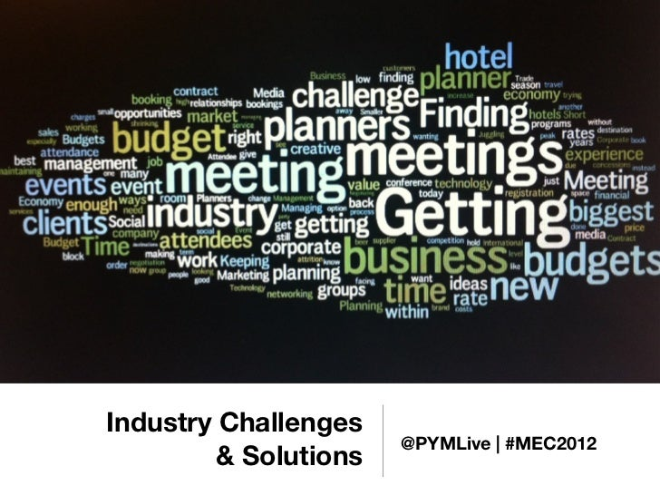 Meetings Industry Challenges and Solutions by @PYMLive