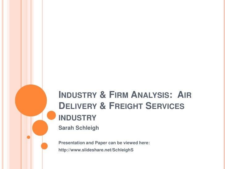 Industry & firm Analysis Presentation