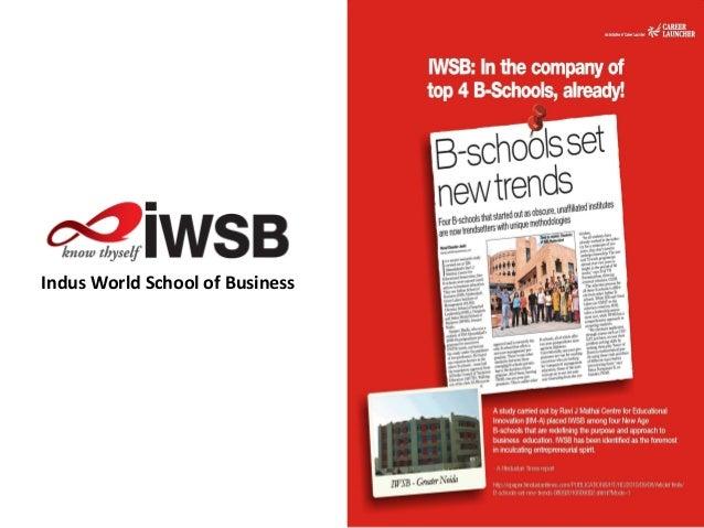 Indus world school of business forging ahead nov 2010 v3.1