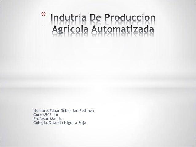 Indutria de produccion