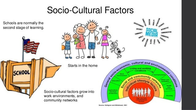socio cultural factors essay This essay will explore how external factors affect tourism as a whole and in america socio- cultural factors are influences that society has on an individual.