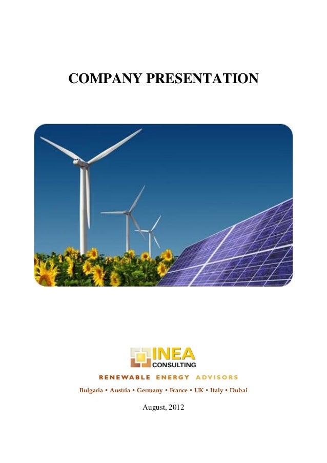 Inea Consulting Company Presentation