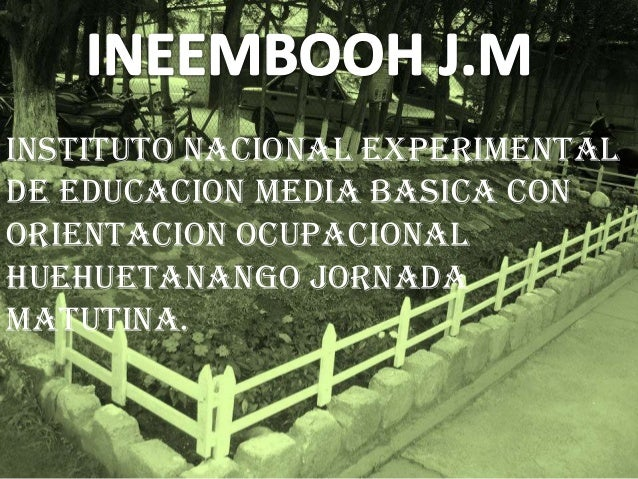 INSTITUTO NACIONAL EXPERIMENTAL DE EDUCACION MEDIA BASICA CON ORIENTACION OCUPACIONAL HUEHUETANANGO JORNADA MATUTINA.