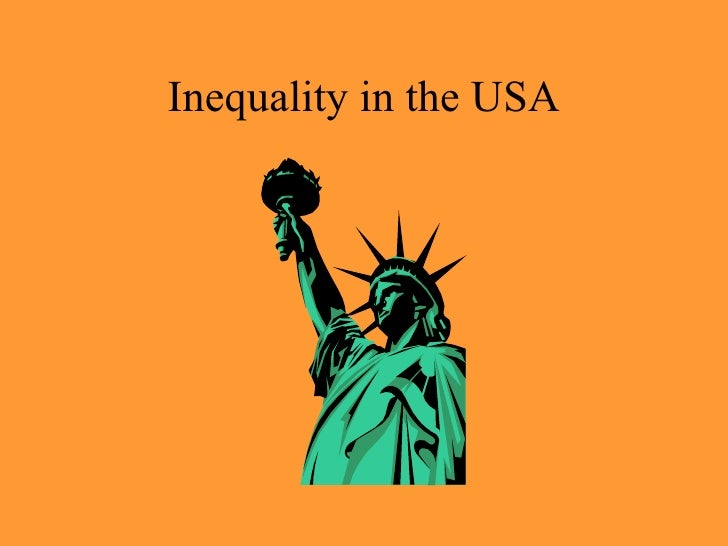 Inequality in the USA