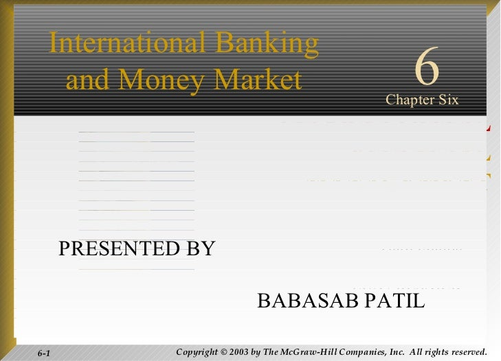 Inernational banking and money morket