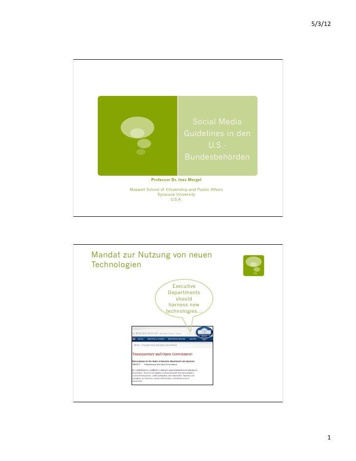 Ines Mergel - Social media guidelines - deutsch