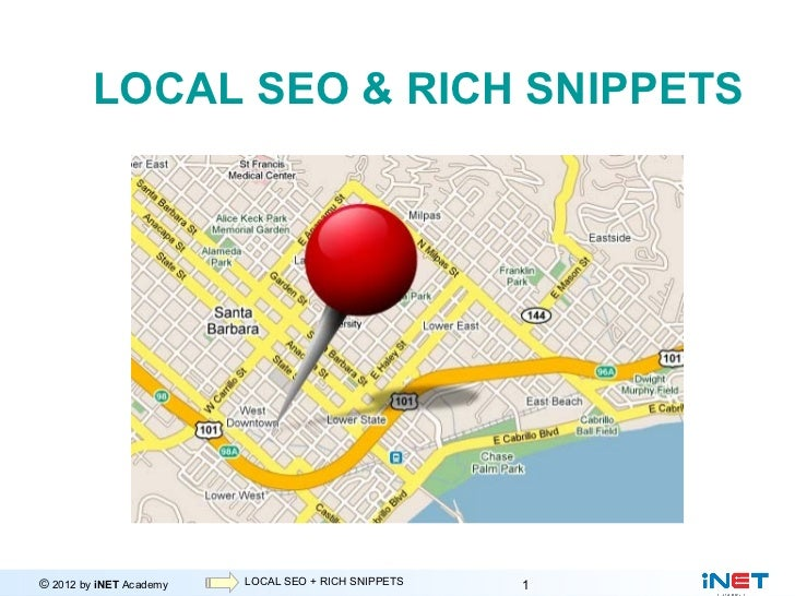 LOCAL SEO & RICH SNIPPETS© 2012 by iNET Academy           Internet Marketing                         LOCAL SEO + RICH SNIP...
