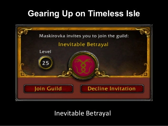 Inevitable Instructors -  Gearing up on Timeless Isle