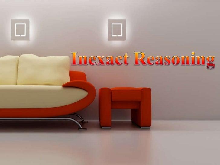Inexact reasoning