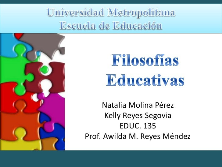 filosofias educativas