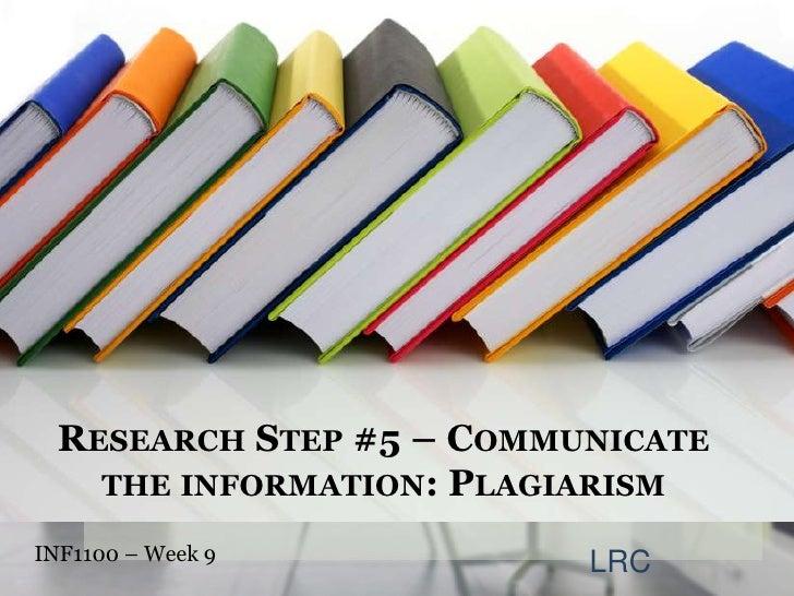 Information Literacy Week 9: Plagiarism
