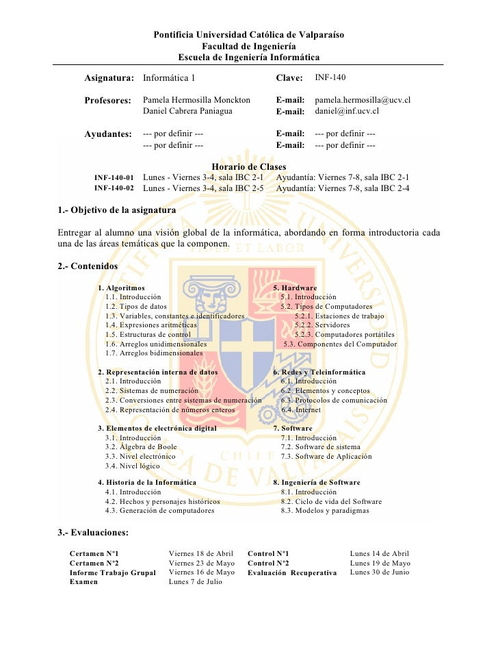 Inf 140   Programa