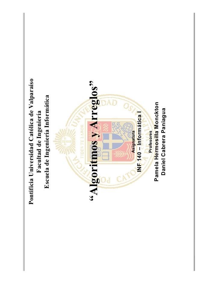 Pontificia Universidad Católica de Valparaíso                          Facultad de Ingeniería                    Escuela d...