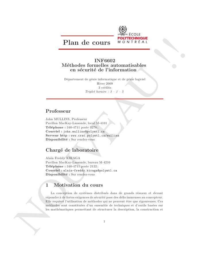 Plan de cours                                                                        !!                         INF6602   ...