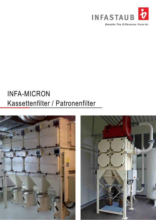 INFASTAUB  Breathe The Difference: Pure Air  INFA-MICRON  Kassettenfilter / Patronenfilter